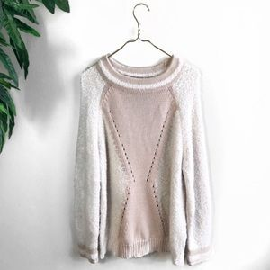 NWT French Connection • Mixed Knit Sweater.